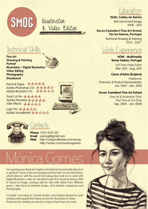 creative curriculum vitae format 70 well designed resume exles for your inspiration