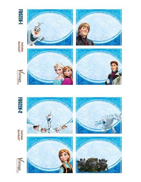 frozen tent cards templates frozen food tags name tags frozen printable