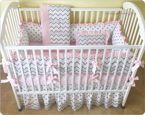 Pink And Gray Chevron Crib Bedding by Pink And Gray Chevron Crib Bedding Set Baby Crib