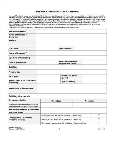 free risk assessment template doc 1113698 risk assessment form template free free