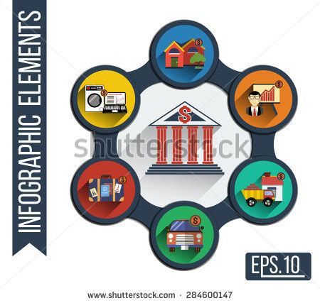 infographic illustration integrated icons various types