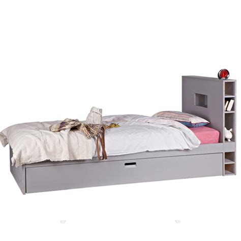 grey single headboard kids single bed in hertog grey kids beds cuckooland