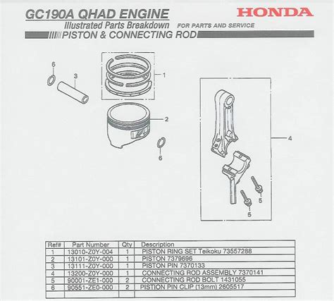 honda gc190 parts diagram gc190 honda engine diagram honda gcv 190 service