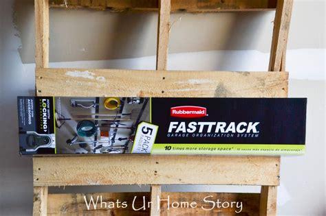 garage organization with rubbermaid fasttrack whats ur
