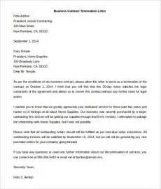 sample letter of termination the best letter sample