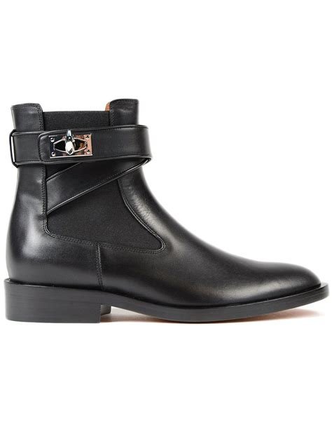 givenchy givenchy shark flat ankle boots black