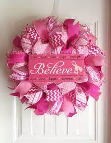 Breast Cancer Awareness Decorations by 17 Best Ideas About Breast Cancer Wreath On