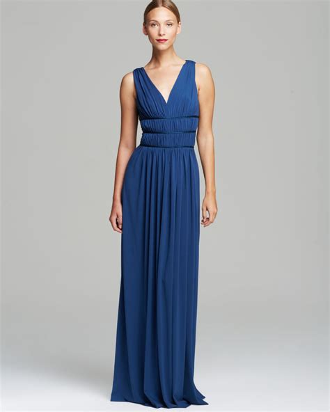 vera wang dresses cocktail dresses maxi dresses vera wang sleeveless grecian double v neck matte jersey