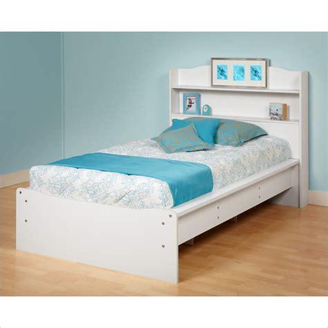 twin bookcase bed prepac aspen twin bookcase platform white finish bed ebay