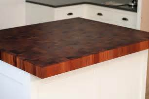 mahogany butcher block countertops in newton massachusetts