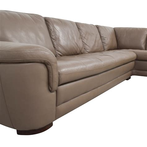 tan leather sectional couch 74 off raymour and flanigan raymour flanigan tan
