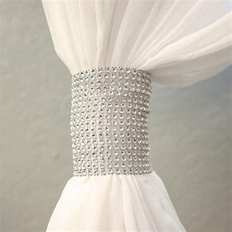 rhinestone curtains silver rhinestone mesh velcro band curtain tie