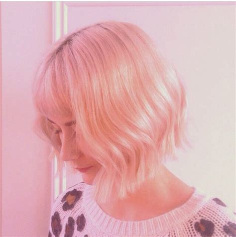 how to cut invisible layers cut by lotte short pastel bob blunt cut with invisible