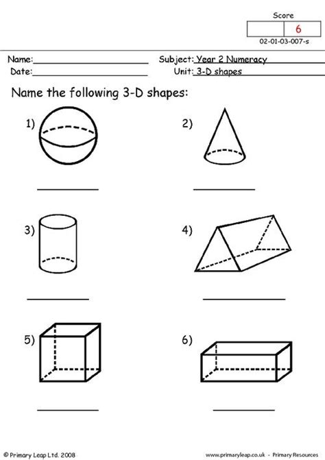 3d Shapes Worksheets by 3d Shapes Primaryleap Co Uk