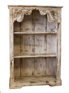 distressed ivory bookshelf one of a find bookcase