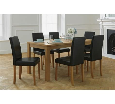 Argos Dining Room Furniture by Buy Home Penley Oak Veneer Ext Dining Table 6 Chairs