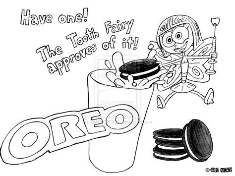 Oreo Cookie Coloring Page