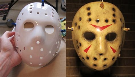 How To Make A Jason Mask Out Of Paper - painting and weathering a jason mask friday the 13th