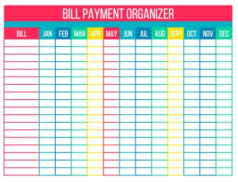 organize your bills with free printables simply stacie