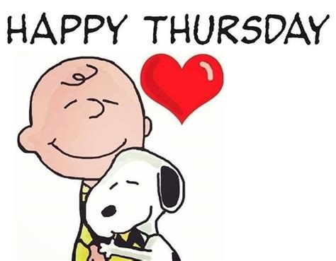 happy thursday charlie brown  snoopy quotes