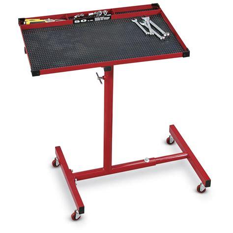 rolling adjustable work table 137403 tools tool