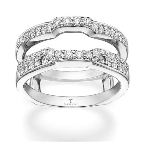 tolkowsky enhancer ring 1 2 ct tw diamonds 14k white