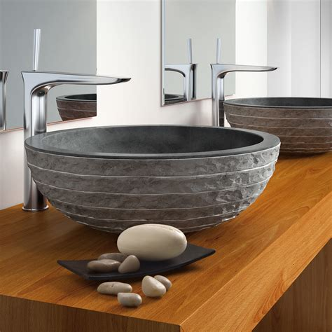 natural stone vessel sinks stone vessel sinks natural stone column circular vessel