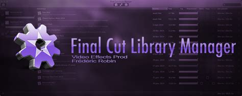 final cut pro library manager final cut library manager version 1 5