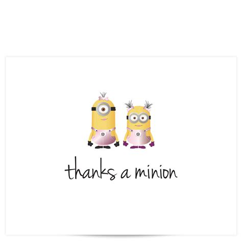 printable minion thank you cards images minions thank you impremedia net