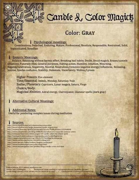 spell color gray 1000 images about pagan bos color candle magick on