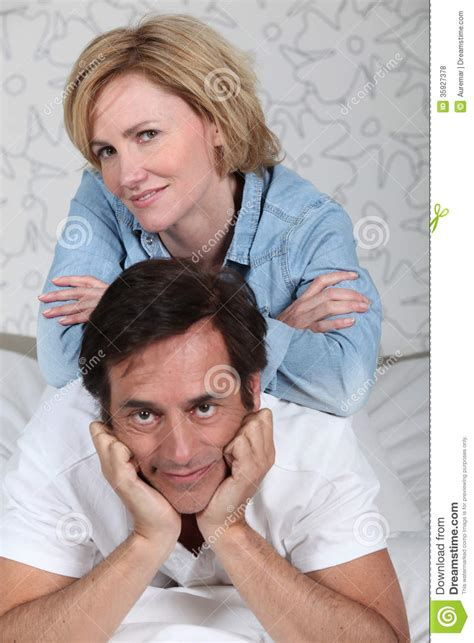 i laid in bed couple laid on a bed stock photo image of bedroom love