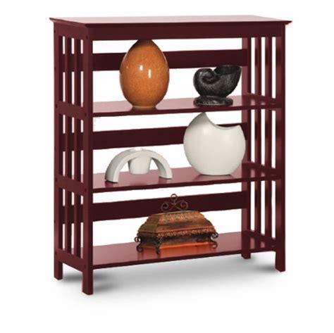 cherry bookshelves the 3 shelf bookcase homes and garden journal