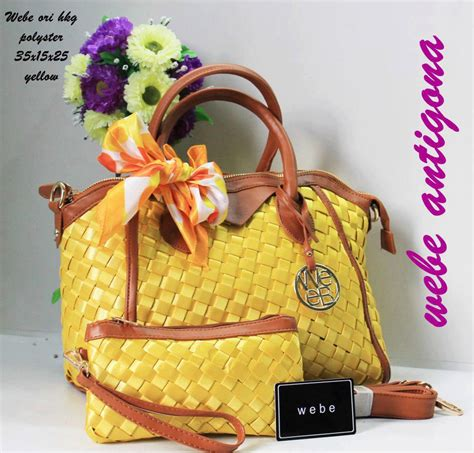 Tas Wanita Fashion Lv Pink Fanta tas webe antigona ori polyester kuning yellow harga murah