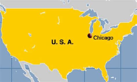 chicago map in usa where is chicago located on the united states map
