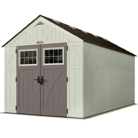 tremont 8ft x 16ft door plastic shed