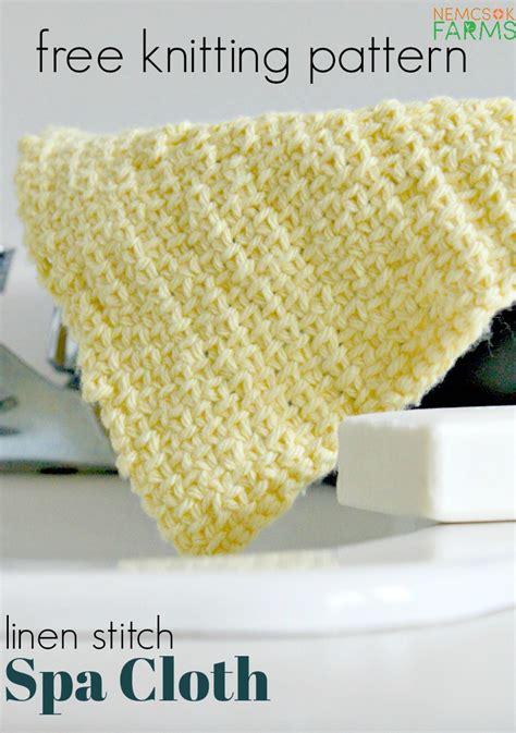 spa cloth knitting pattern linen stitch spa cloth knitting pattern nemcsok farms