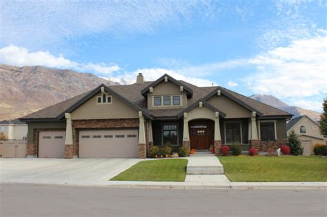 design custom home front elevation craftsman exterior salt lake city