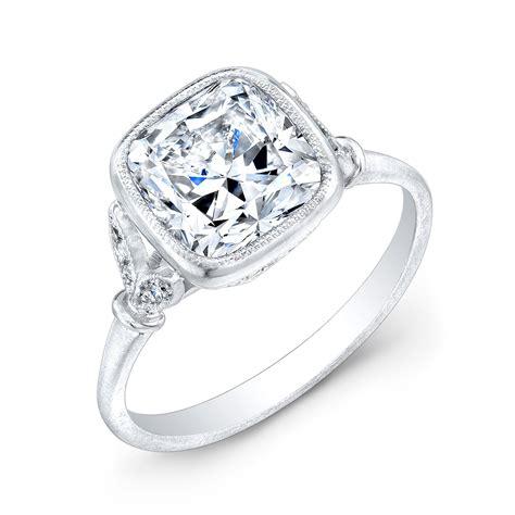 cusion cut diamond ring canadian cushion cut diamond engagement ring