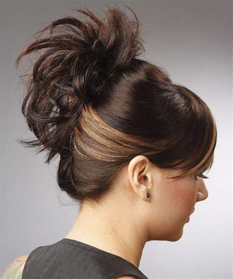 hairstyles updo casual updo long straight casual updo hairstyle with side swept
