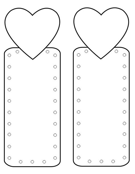 printable heart bookmarks de 25 b 228 sta id 233 erna om bookmark template bara p 229
