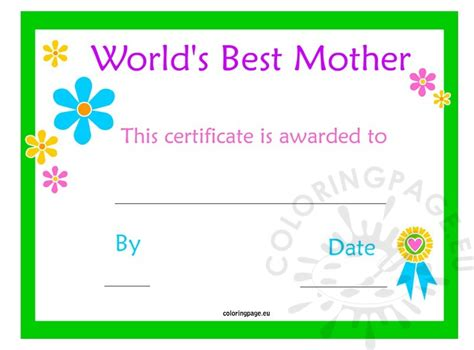 certificate template pages s day certificate coloring page