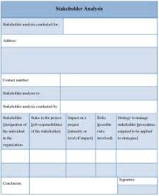 Stakeholder Analysis Template by Analysis Template For Stakeholder Format Of Stakeholder