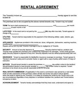 rental contracts templates free 20 rental agreement templates word excel pdf formats