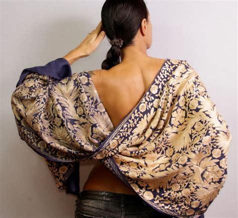 Pashmina Satin Motif 2 pashmina shawl wedding shawl wedding stole wool pashmina scarf silk shawl purple gold