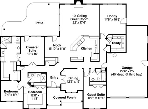 single story house plans 3000 sq ft ranch style house plans 3000 square foot home 1 story 4 bedroom and 3 bath 3