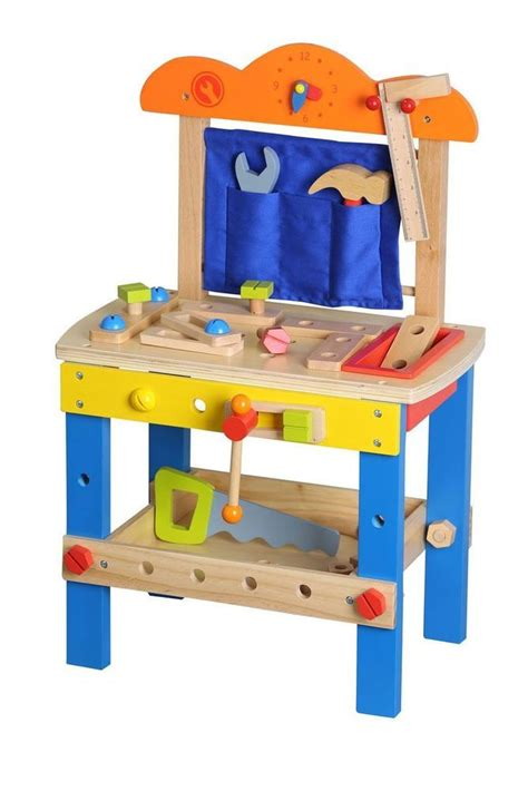 toy wooden tool bench lelin wooden diy construction work bench childrens kids