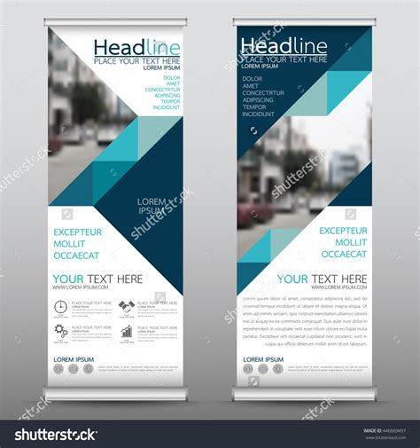product banner template blue roll up business brochure flyer banner design