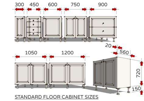 Standard Sizes Of Kitchen Cabinets by Standard Dimensions For Australian Kitchens Renomart