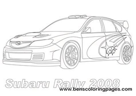 coloring pages of rally cars subaru rally coloring page