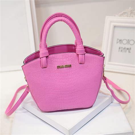 2015 fashion pu for crocodile handbag min min bag high